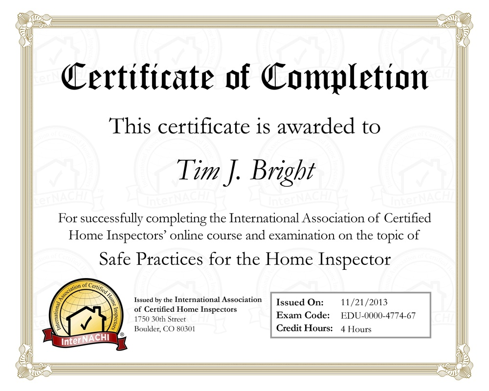 Safe Practices for the Home Inspector